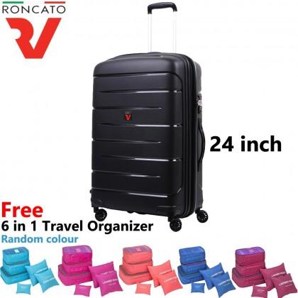 (Bundle) Roncato 100% Polypropylene 41346 Flight DLX 24 Inch Luggage + Organizer