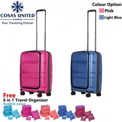 "(Bundle)Cosas United Inspirit Series 55cm/20"""""""" Luggage + 6 in 1 Travel Organizer"