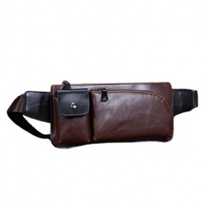 704 Premium PU Leather Sling and Waist Pouch
