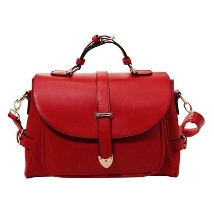 A101 PU Leather Messenger Bag
