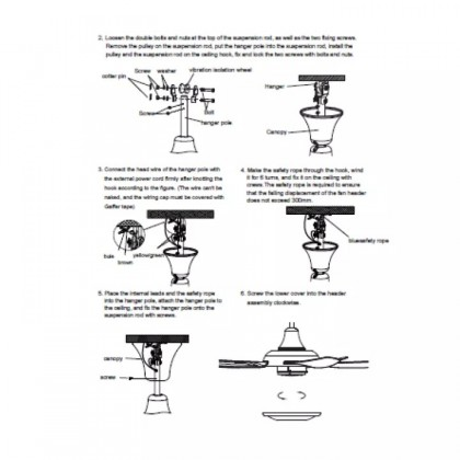 SOKANO Midea 56 inch Ceiling Fan with Remote Control (MFC-140CJR) x 2 units
