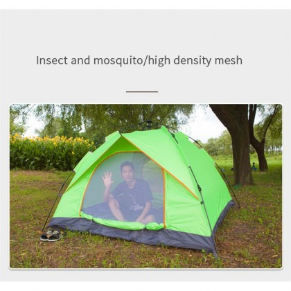 SOKANO KH002 Tent (2 Meter x 2 Meter) Fully Automatic Tent Outdoor Foldable Camping Auto Tents (Available in Single/Double Layer) UV Resist Waterproof 2 Doors Sleeping Camp Khemah Tidur